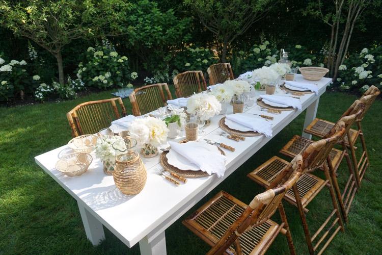outdoor dinner table setting design